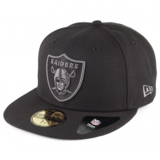 Шапка New Era 59 FIFTY Oakland Raiders Fitted Hat,7,Графит,L