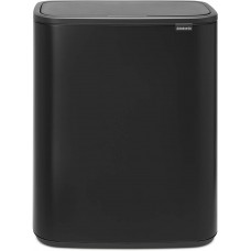 Кош Brabantia Bo Touch Bin Recycling, 2 x 30L, Matt Black, 2 подвижни кофи