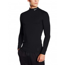 Nike Men's Pro Cool Compression Long-Sleeved Shirt With Stand-Up Collar,Черен,2XL